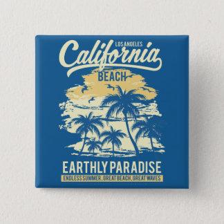 Bóton Quadrado 5.08cm Vida na praia infinita de Califórnia do verão do