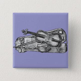 Bóton Quadrado 5.08cm Violino com caso