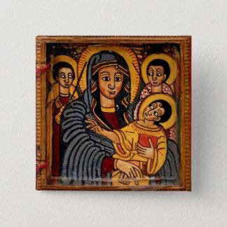 Bóton Quadrado 5.08cm Virgem Maria o ícone etíope de Theotokos