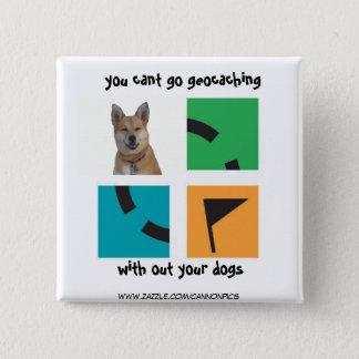 Bóton Quadrado 5.08cm você chanfrado vai geocaching, sem seus cães