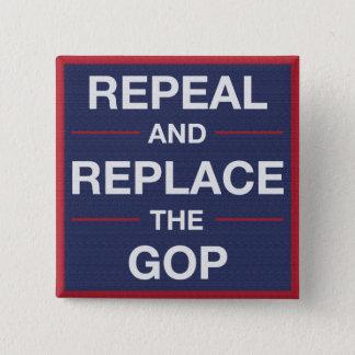 Bóton Quadrado 5.08cm Vote para fora o GOP! Resista!