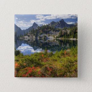 Bóton Quadrado 5.08cm WA, região selvagem alpina dos lagos, lago gem,