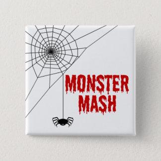 Bóton Quadrado 5.08cm Web de aranha do Dia das Bruxas da erva-benta do