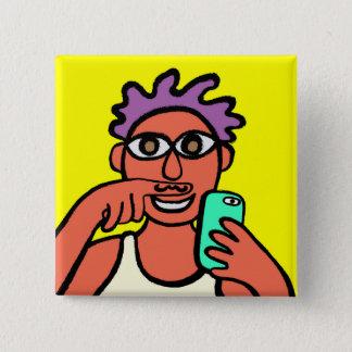 Bóton Quadrado 5.08cm www.instagram.com/danny_akh.art/