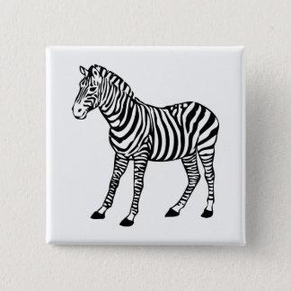 Bóton Quadrado 5.08cm zebra