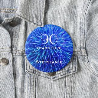 Bóton Redondo 10.16cm 90 anos de Pin personalizado velho do botão do