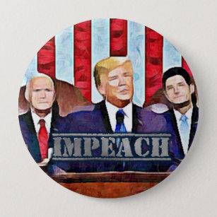 Bóton Redondo 10.16cm Acuse o botão do presidente Donald Trump