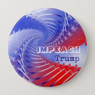 Bóton Redondo 10.16cm Acuse o botão redondo do Anti-Trunfo patriótico do
