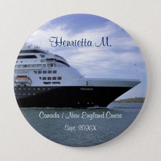 Bóton Redondo 10.16cm Arco lustroso do navio de cruzeiros personalizado