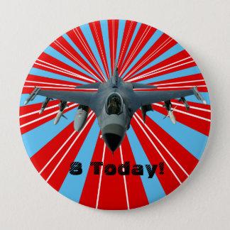 Bóton Redondo 10.16cm Avião de combate