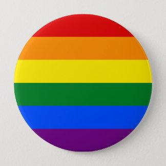Bóton Redondo 10.16cm Bandeira do arco-íris