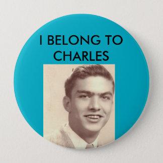 Bóton Redondo 10.16cm Botão da reunião de família de Charles