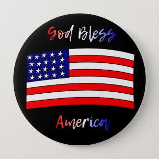Bóton Redondo 10.16cm Botão de América dos deus abençoe