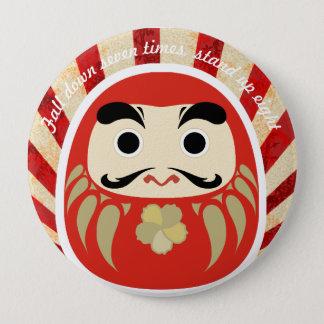Bóton Redondo 10.16cm botão do 七転び八起き DARUMA