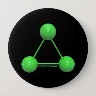 Bóton Redondo 10.16cm Botão do logotipo de DeoGenZ grande