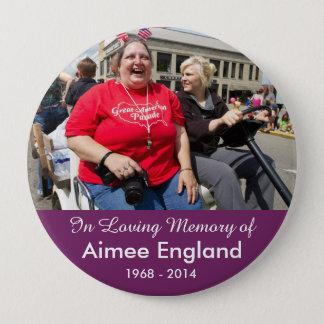 Bóton Redondo 10.16cm Botão do memorial de Aimee Inglaterra