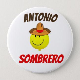 Bóton Redondo 10.16cm Botão oficial do fã do Sombrero de Antonio