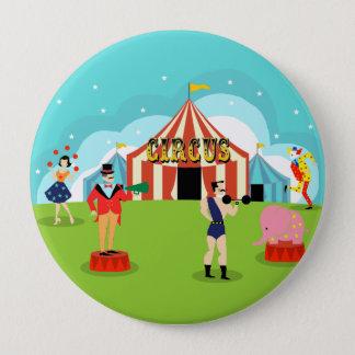 Bóton Redondo 10.16cm Botão redondo do circo do vintage