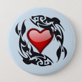 Bóton Redondo 10.16cm Botão redondo do coração do amor
