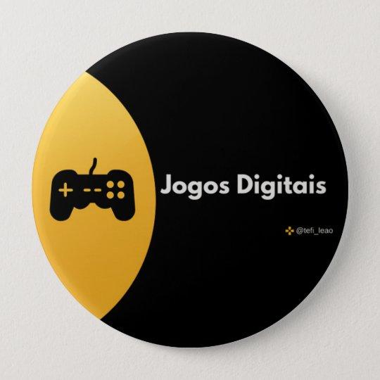 Bóton Redondo 10.16cm Botton - Jogos Digitais