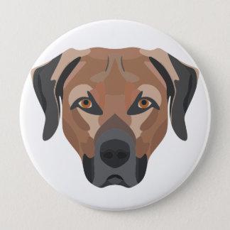 Bóton Redondo 10.16cm Cão Brown Labrador da ilustração