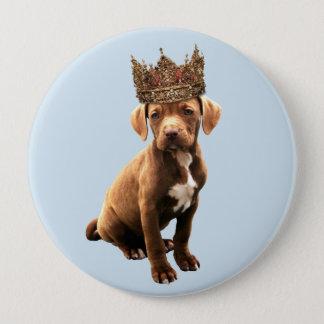 Bóton Redondo 10.16cm cão real #1