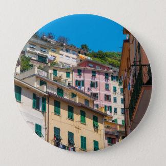 Bóton Redondo 10.16cm Casas coloridas em Cinque Terre Italia
