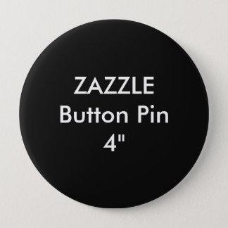 """Bóton Redondo 10.16cm Costume vazio 4"""" de Zazzle PRETO enorme do Pin do"""