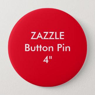 """Bóton Redondo 10.16cm Costume vazio 4"""" de Zazzle VERMELHO enorme do Pin"""