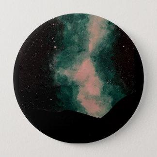Bóton Redondo 10.16cm Crachá redondo grande bonito da galáxia