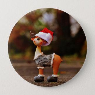 Bóton Redondo 10.16cm Decorações da rena - rena do Natal