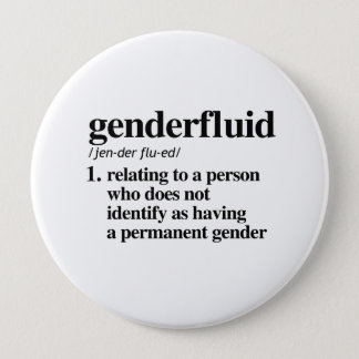 Bóton Redondo 10.16cm Definição de Genderfluid - termos definidos de