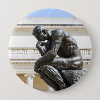 Bóton Redondo 10.16cm Estátua do pensador de Rodin