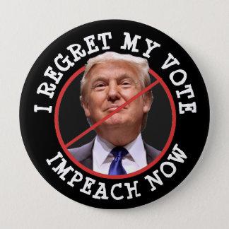 Bóton Redondo 10.16cm Eu lamento meu voto, anti botão de Donald Trump