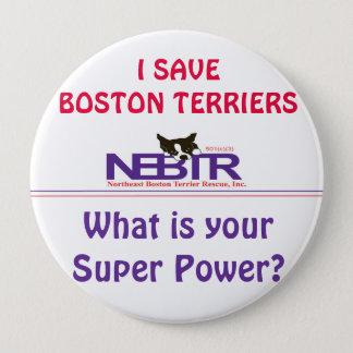 Bóton Redondo 10.16cm EU SALVAR o botão dos TERRIER de BOSTON