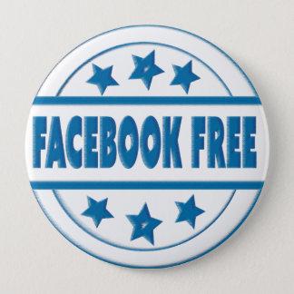 Bóton Redondo 10.16cm Facebook social livra seu crachá redondo feito sob