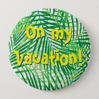 Bóton Redondo 10.16cm Folhas de palmeira