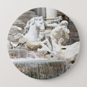 e1c5f831601 Bóton Redondo 10.16cm Fonte Triton do Trevi e cavalo em Roma