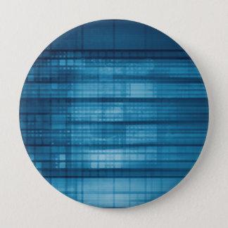 Bóton Redondo 10.16cm Fundo do mosaico da tecnologia como uma arte do