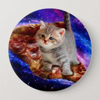 Bóton Redondo 10.16cm gato da pizza - gatos bonitos - gatinho - gatinhos