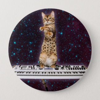 Bóton Redondo 10.16cm gato do teclado - gatos engraçados - amantes do