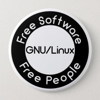 Bóton Redondo 10.16cm GNU/Linux