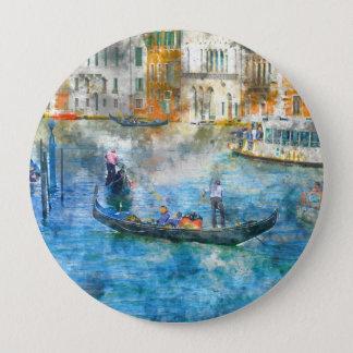 Bóton Redondo 10.16cm Gôndola no canal grande de Veneza Italia