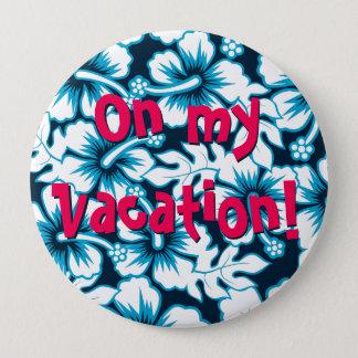 Bóton Redondo 10.16cm Gráfico do surf floral