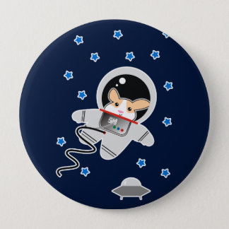 Bóton Redondo 10.16cm Hamster do astronauta