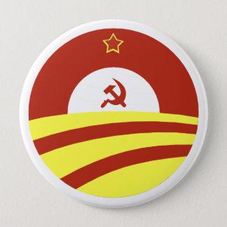 Bóton Redondo 10.16cm Hussein Obama diz: Espalhe a riqueza