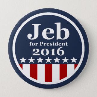 Bóton Redondo 10.16cm Jeb para botões do presidente 2016 campanha