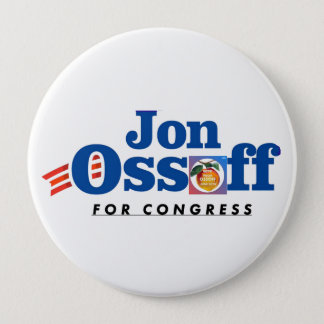 Bóton Redondo 10.16cm Jon Ossoff para o #VoteYourOssoff do botão do