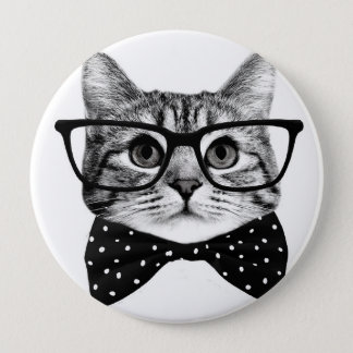 Bóton Redondo 10.16cm laço do gato - gato dos vidros - gato de vidro