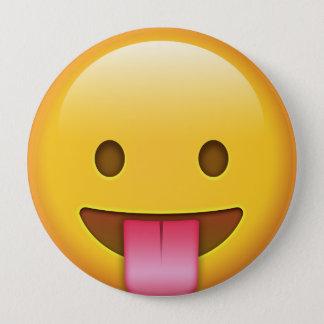 Bóton Redondo 10.16cm Língua-Para fora Emoji